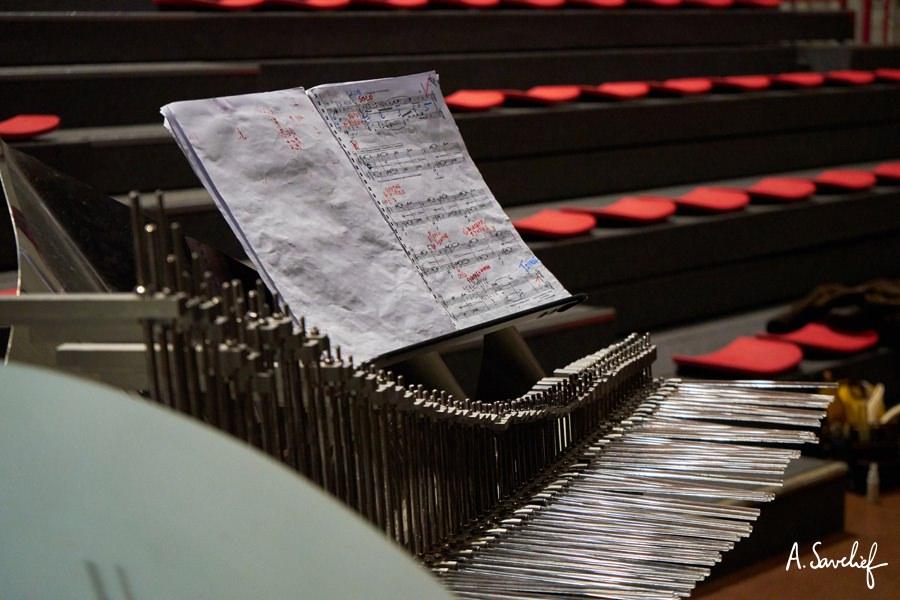 Le grand Cristal Baschet de concert (5 octaves) du cristaliste Michel Deneuve