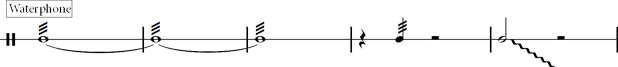 9. standard Waterphone cliché notation